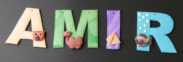 home decor from polymer clay, wall decor, signs, personalized, wall hangings, nursery decor, kids room decor, baby shower gift, nursery letters, handmade decoration, custom letters,