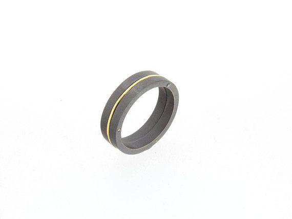 Unisex Wedding Ring, Unisex Wedding Band, Alternative Promise Ring, Anodized Titanium Wedding  Ring, Unique Engagement Ring, Unique Ring.