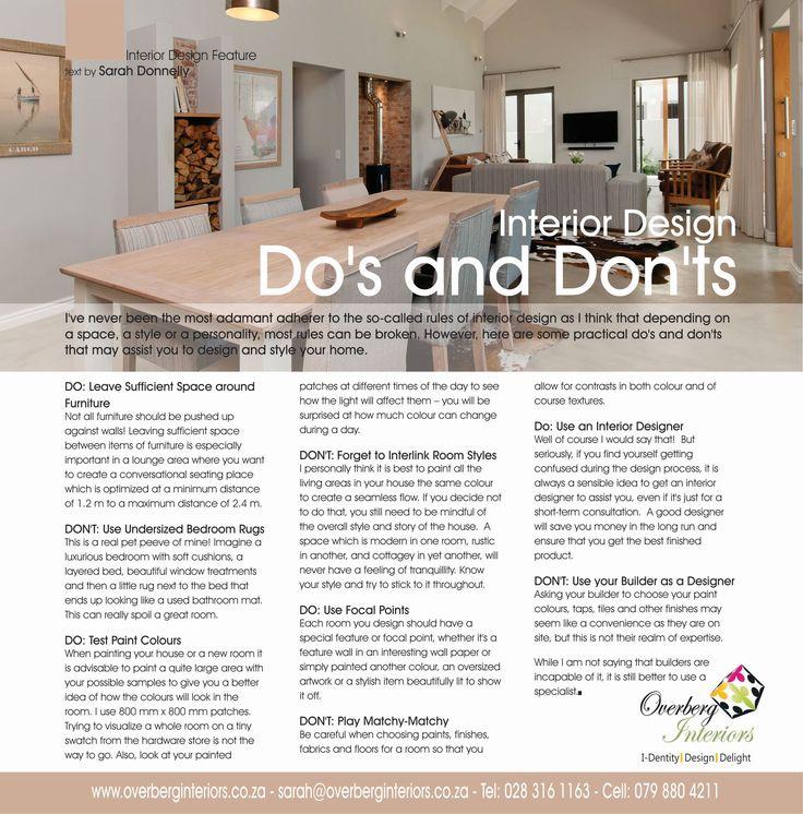 Interior Design Dos And Donts Interior Design Home Interior Design Interior