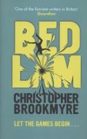 Bedlam by Christopher Brookmyre. Stuck in an endless state of war and chaos where the pain and fear feels real and from which not even death can offer an escape. Prison or playground. Heaven or hell. This is where you find out.