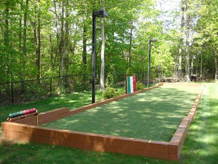 57 best petanque images on pinterest bocce court - Terrain de petanque dans son jardin ...