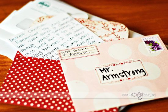 writing a secret admirer letter ideas