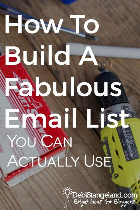 How To Build A Fabulous Email List You Can Actually Use ★ Yes, you need an email list. But no, you don't need 7K subscribers before lunchtime. Building an email list means creating the right strategy for your type of blog. ★ Learn HOW To Blog ★