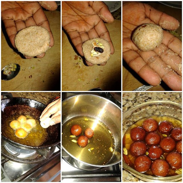 Sailaja Kitchen...A site for all food lovers!: Bread Jamun Recipe / Bread Gulab Jamun / Easy Bread Gulab Jamun Recipe / Stuffed Jamun Recipe / Bread Jamoon Recipe