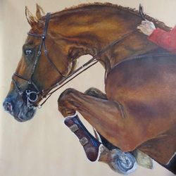 Jumping horse, 155x150 cm, oil on canvas