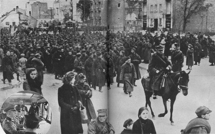 Surrender of Warsaw September 27, 1939 Polish garrison leaves the devastated city September 30, 1939