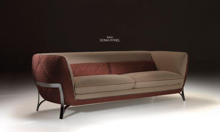 ATENA sofa covered with Sonia Rykiel's fabric