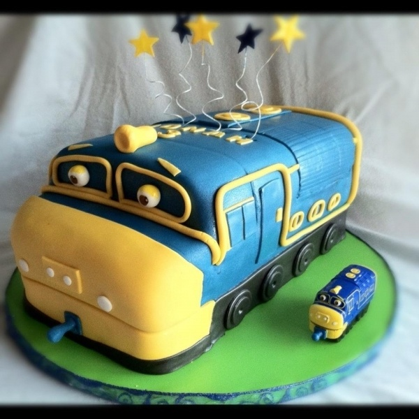 Chugginton Birthday.  My son would love this.  He loves Bruster, Wilson, and Coco.