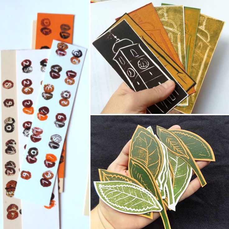 Plenty of linocut bookmarks available, ready for avid readers :)