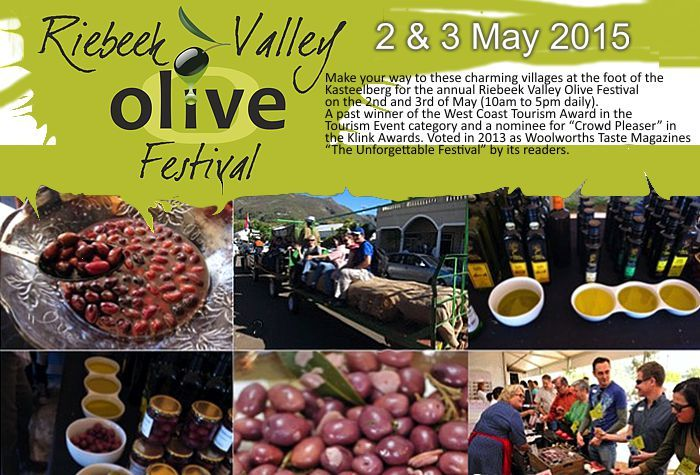 Don't forget it's the Riebeek Valley Olive Festival tomorrow and Sunday... http://bit.ly/1PgXmPd