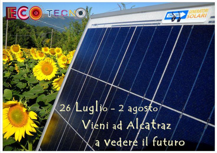 1° agosto  2014 Festival Ecofuturo presso libera Università di Alcatraz a Gubbio - PG  Massimo Berti  presenta Fotovoltaico a Spina  al workshop curato da Giga Free