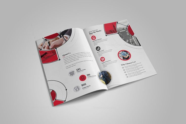 Fancy Stylish Bi-Fold Brochure Template 000727