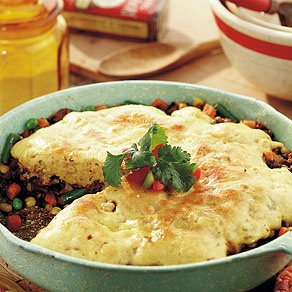 Beef Tamale Pie With Cornmeal Crust Recipe — Dishmaps