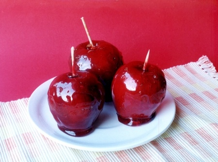 Receita de Maçã do Amor #recipes #apple #love #brazil #cybercook