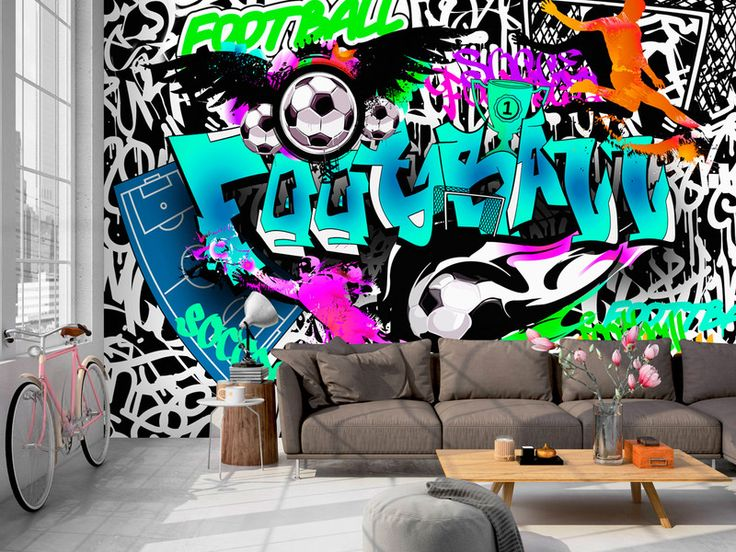 die besten 25 graffiti tapete ideen auf pinterest. Black Bedroom Furniture Sets. Home Design Ideas