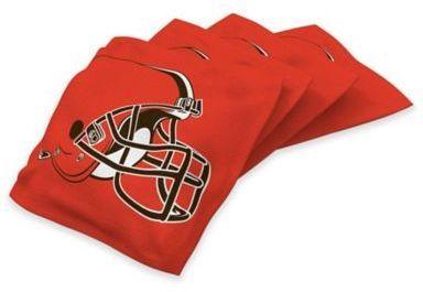 NFL Cleveland Browns 16 oz. Regulation Cornhole Bean Bags in Orange (Set of 4)