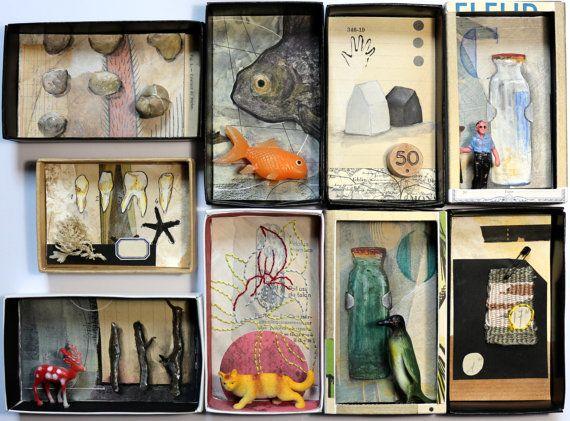 Art box:petit diorama réalisé dans une boîte d'allumette