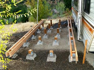 Building a deck for your Caravan / Travel_Trailer