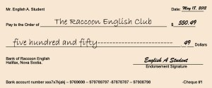 How to write a cheque - sample cheque
