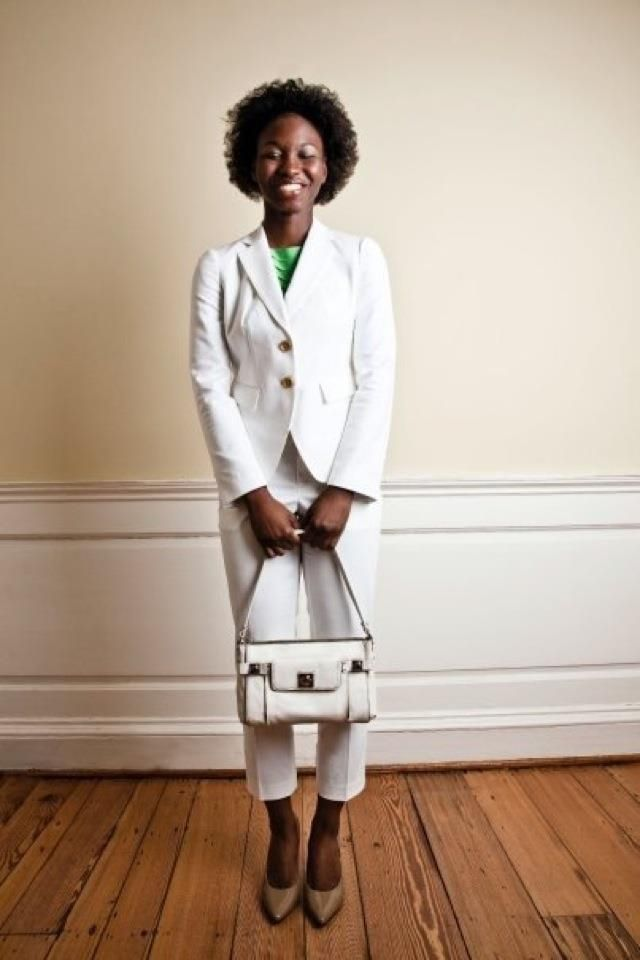 Styled by: Russ Bratcher, clothes by: Banana Republic, photography by: Jake Drake, Model: Cynthia Deleston-Gary, Shot for: The Art Institute of Charleston