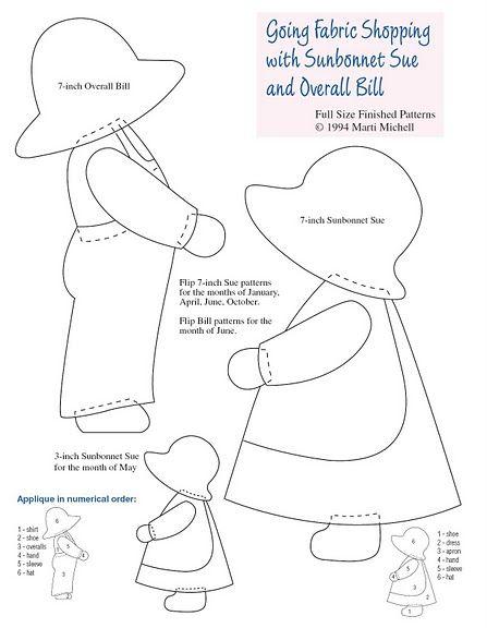 История одного бренда. Санбоннет Сью (Sunbonnet Sue, Dutch Doll, Bonnie Bonnet, Sun Bonnet Babies). Обсуждение на LiveInternet - Российский Сервис Онлайн-Дневников