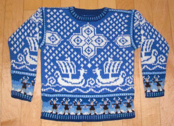 Viking Knitting Patterns : Knitting Pattern: Viking Ship Five Years Viking Ship, Vikings and Ships