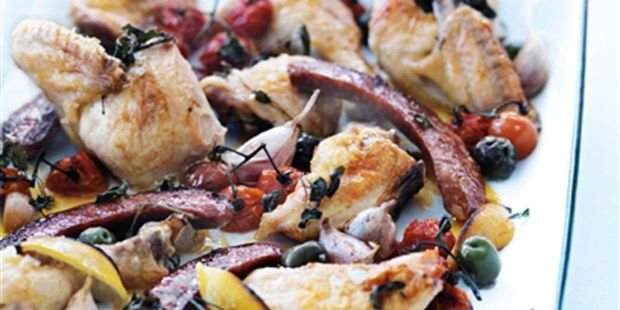 Roasted Chicken and Chorizo