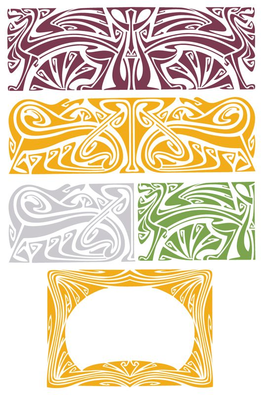 207 best images about patterns for all on pinterest for Art nouveau shapes