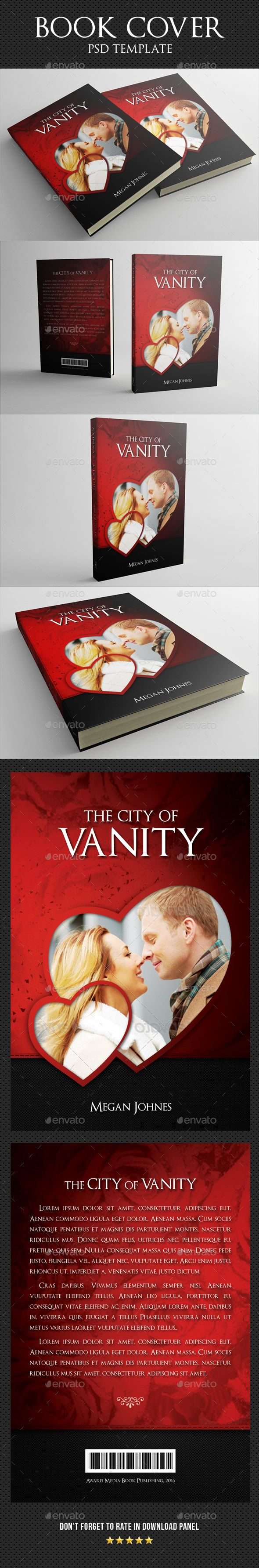 Book Cover Template 12 — Photoshop PSD #book cover #book • Available here → https://graphicriver.net/item/book-cover-template-12/15834927?ref=pxcr