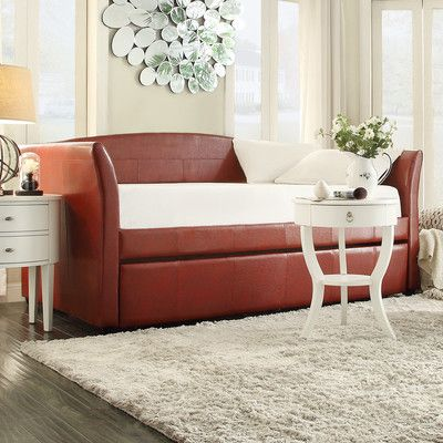 found it at wayfair cataleya trundle daybed in wine red