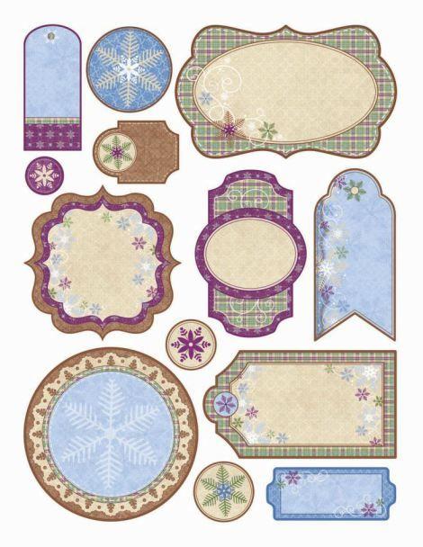 Imágenes para imprimir-Free Printables   Tati Scrap -Recortando Ideas winter lables
