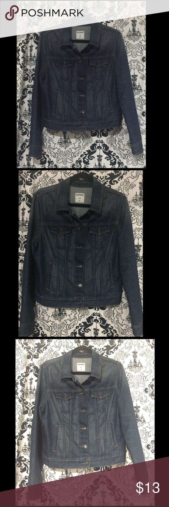Old navy denim jacket. Old navy denim jacket.  Worn once. Size:L cropped Old Navy Jackets & Coats Jean Jackets