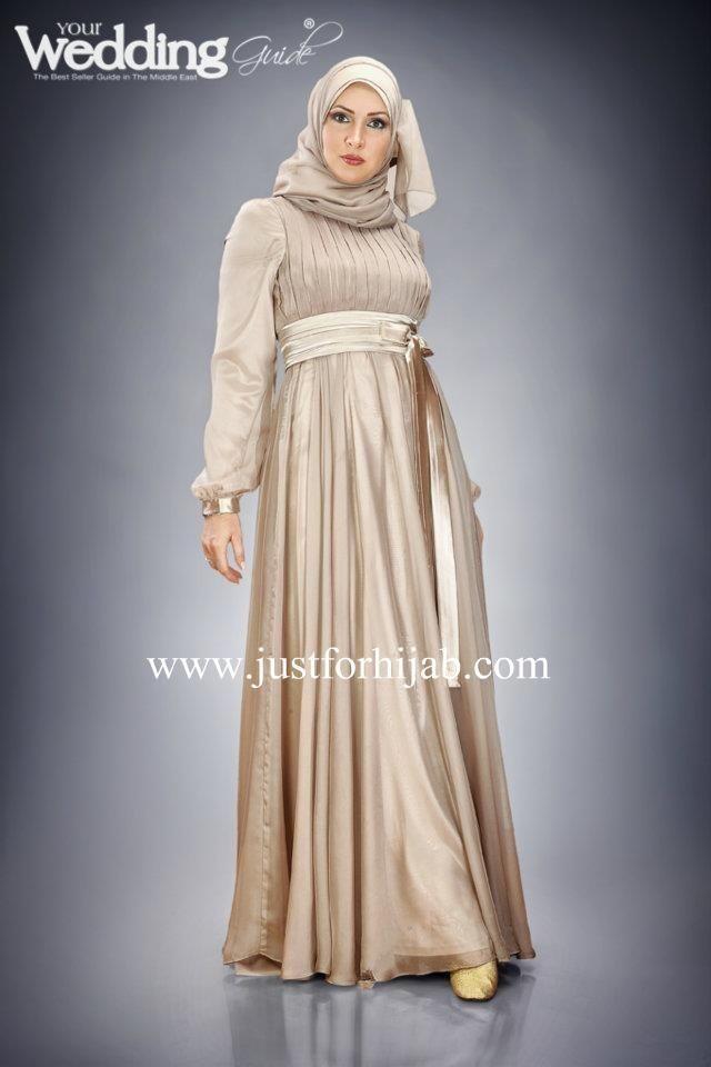 gold hijab dress