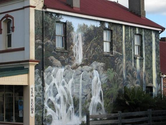 Image of Tasmania's 'Town of Murals' located in Sheffield, Australia
