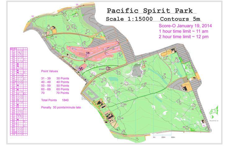 January 19th 2014 10:00am - Pacific Spirit Park Score-O - 2 Hour Score-O course