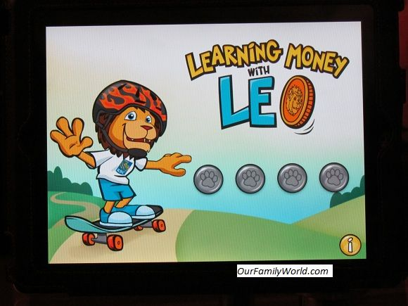 Learning money with Leo iPad app: a great tool teaching kids money concepts