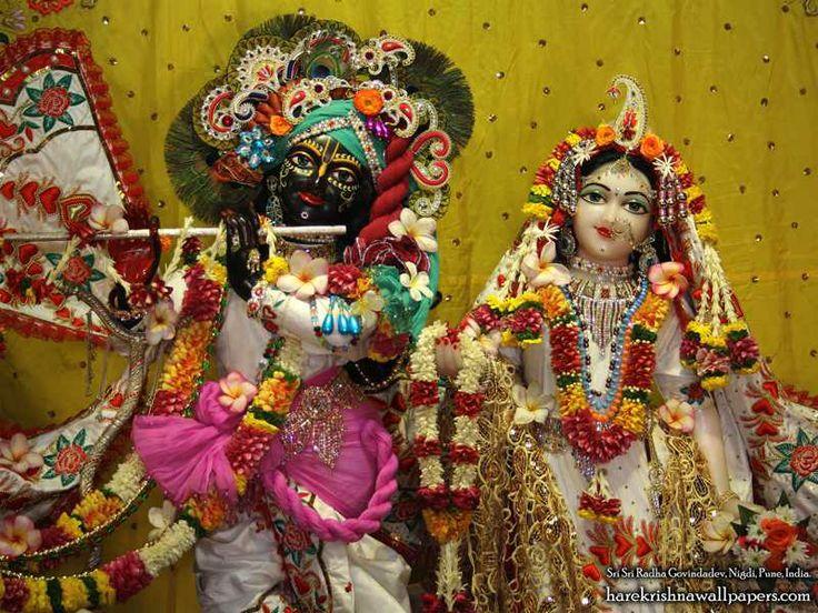 Sri Sri Radha Govind Close up Wallpaper