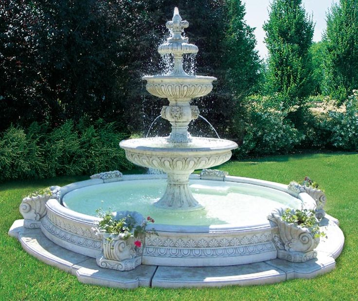 Pin by helene dube on architecture garden water for Garden pond waterfalls for sale