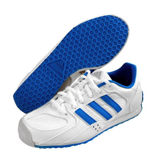 2998d91b7dc adidas en garde Men s Fencing Shoes White Blue Fencer Foil Non-Marking  BB4953  adidas
