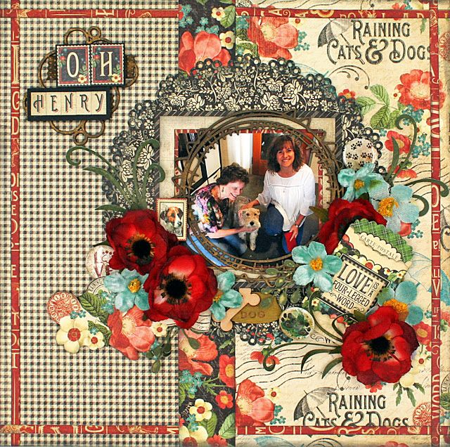 Oh Henry! layout with Creative Embellishments