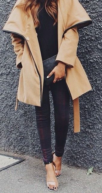 Tan oversized coat
