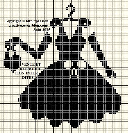 0 point de croix robe noire, gants et sac - cross stitch black dress, gloves and bag