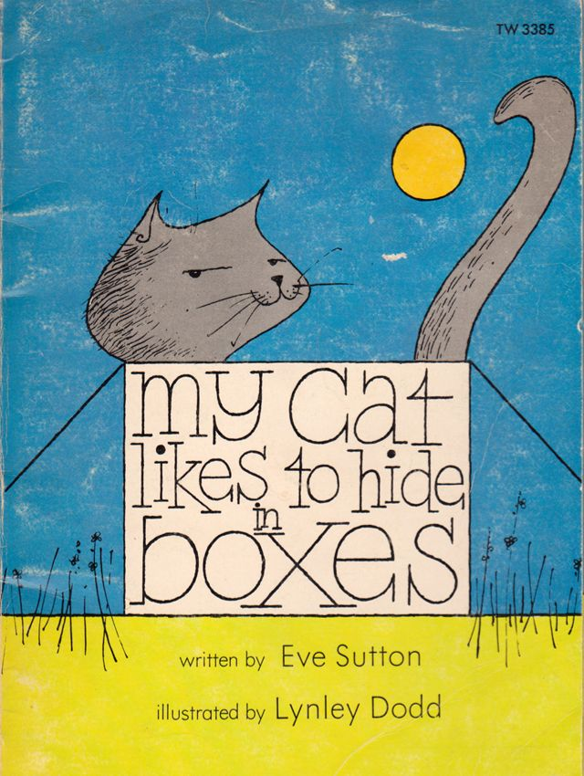 my vintage book collection (in blog form).: My Cat Likes to Hide in Boxes - illustrated by Lynley Dodd