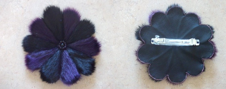 Inuit made sealskin hair clip