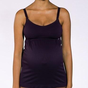 Cantaloop-pregnancy/nursing tank top-black