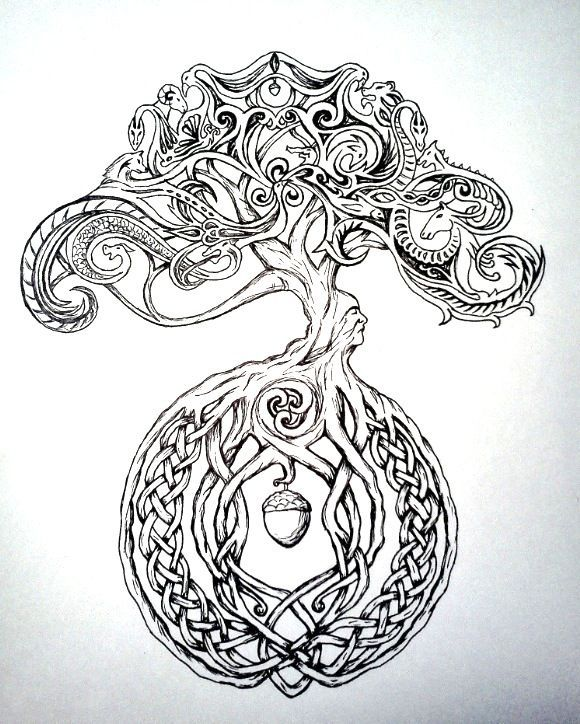 Image result for rainbow watercolour tree celtic