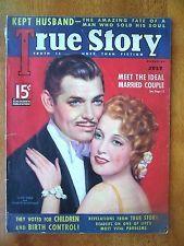 "RARE 1936 CLARK GABLE & JEANETTE MacDONALD-""TRUE STORY"" MAGAZINE-142 PAGES!!"