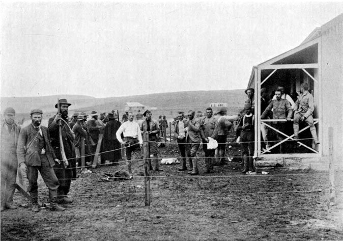 A great picture of the First British Prisoners of captured by the Boers near Dundee.