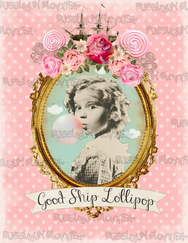 Shirley Temple Good Ship Lollipop Digital art by BubblegumBlowfish