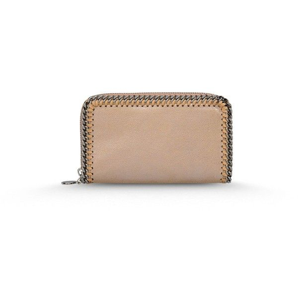 Stella Mccartney Falabella Chamois Zip Wallet (204.690 HUF) ❤ liked on Polyvore